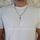 Комплект!!! Срібний ланцюжок з хрестиком. Чоловіча якірна ланцюг і хрестик з жорстким вушком., фото 4