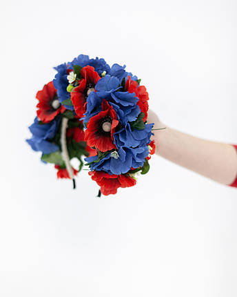 Ободок  с маковыми цветами, фото 2