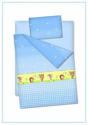 """Детское постельное белье """"Лесные звери"""", цвет голубой"""