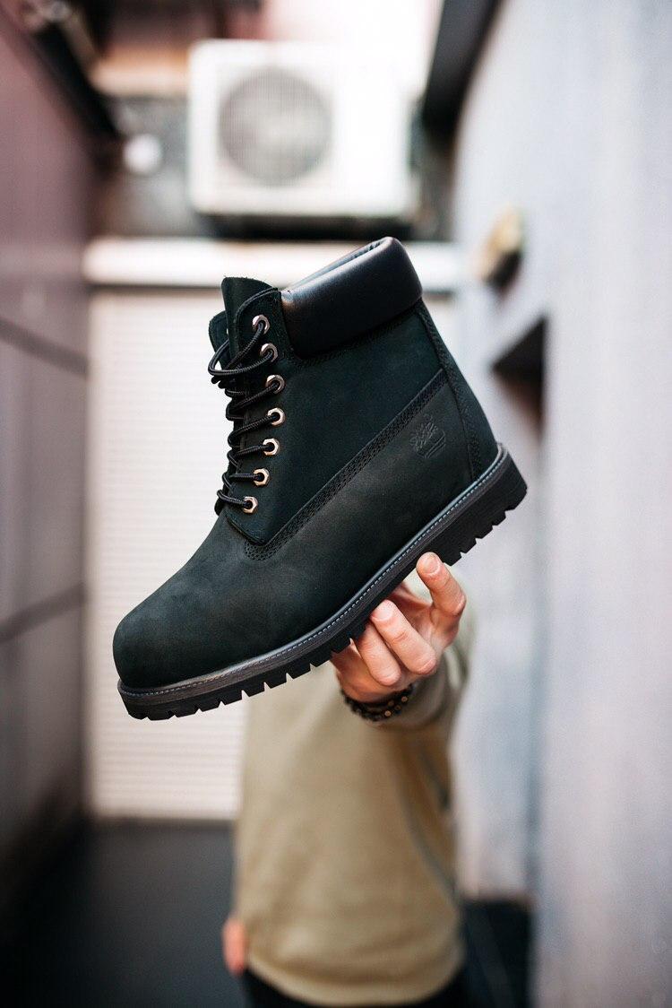 Мужские черные Ботинки Timberland Original (реплика)