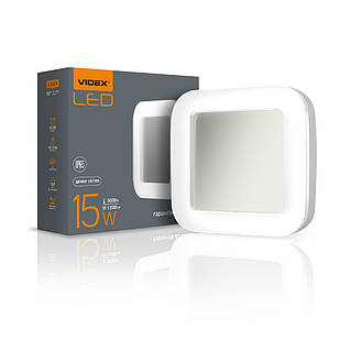 LED світильник ART IP65 квадратний VIDEX 15W 5000K VL-BHFS-155 25246