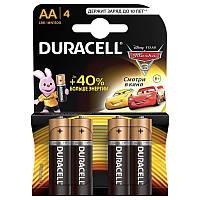 Батарейка АА 4шт DURAСELL Basic 1.5V LR6 алкалиновая Бельгия