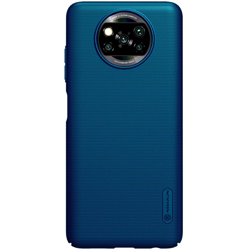 Nillkin Xiaomi Poco X3 NFC Super Frosted Shield Blue Чехол Накладка Бампер