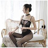 Сексуальна боді сітка сексуальная боди-сетка с рисунком эротическое белье, фото 5