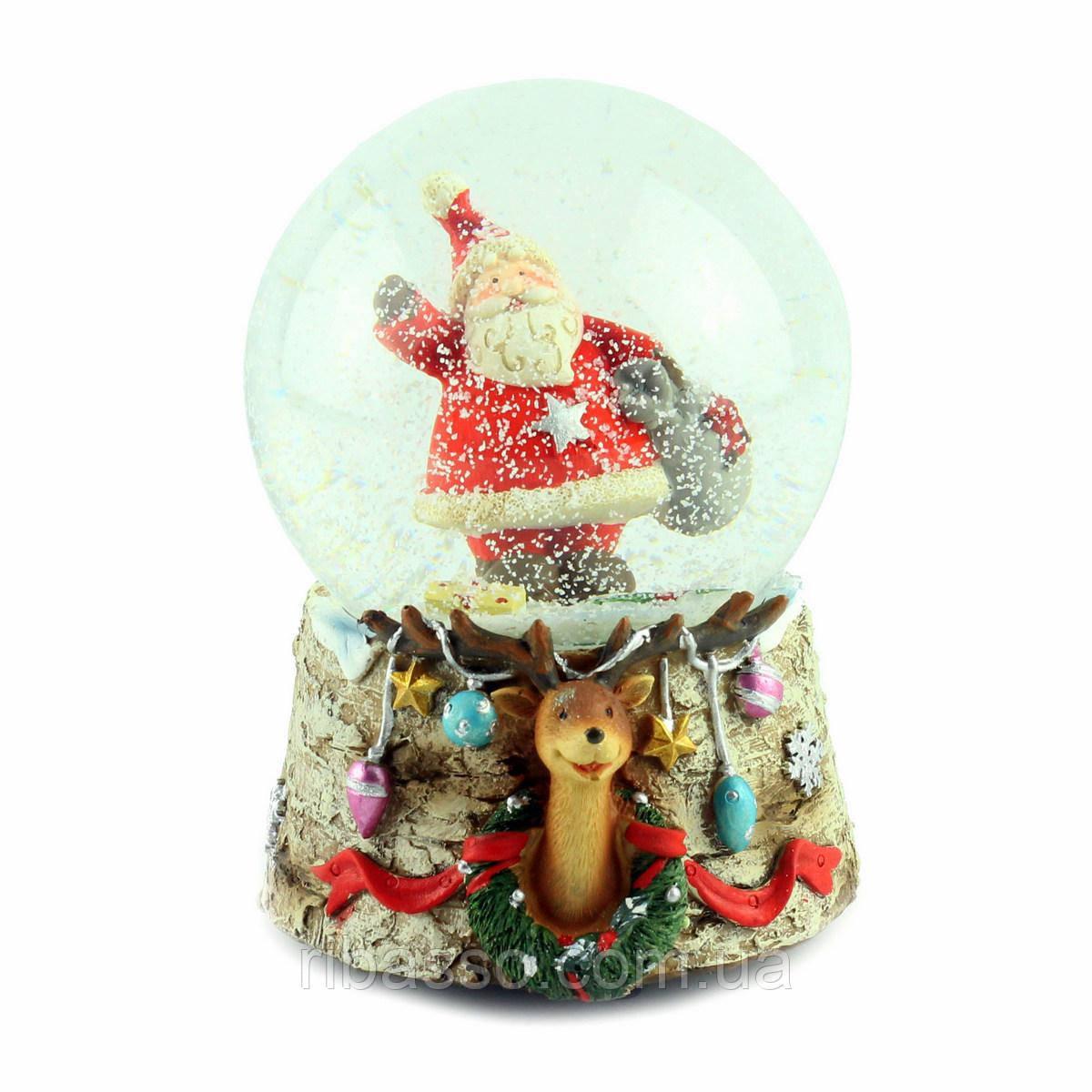 "G.Wurm Снежный шар ""Санта с мешком"""