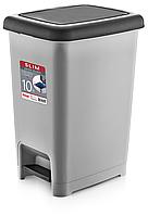 Ведро Slim  мусорное с педалью DUNYA PLASTIK ТУРЦИЯ (20 x 26,5 x 34,5 СМ) 10 л. 01041