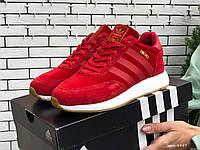 Зимние женские кроссовки Adidas Iniki red (Мех). [Размеры в наличии: 36,37,38,39,40,41], фото 1