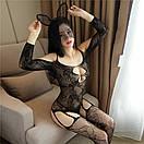 Сексуальна боді сітка сексуальна боді-сітка з малюнком еротична білизна, фото 5