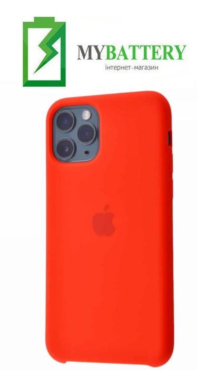 Чехол Silicone Case original (чехол-бампер) iPhone 11 Pro Max красный (31)
