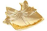 """Керамическая тарелочка """"Золотистый подарок"""", 15х12 см, набор 2 шт!!, фото 2"""