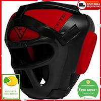 Боксерский шлем тренировочный RDX Guard S красный с черным