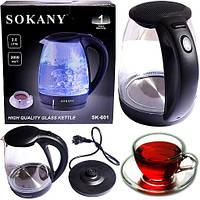 Электрический чайник Sokany SK-601 стекло, фото 1