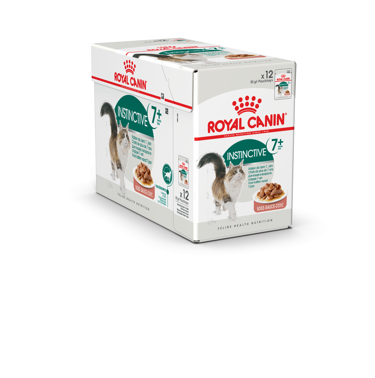 Royal Canin Instinctive +7 85 гр упаковка 12 шт влажный корм (Роял Канин) для взрослых кошек в соусе