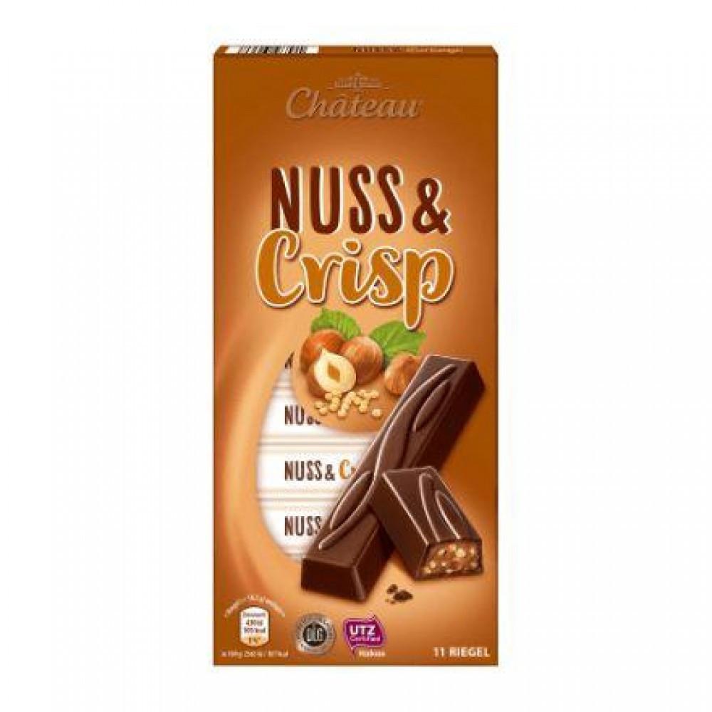 Черный шоколад Chateau Nuss & Crisp, 200 g.