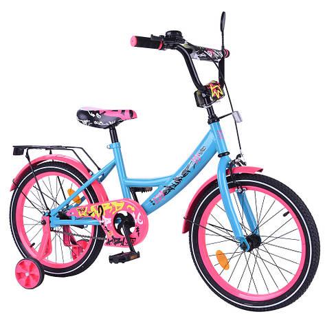 "Велосипед EXPLORER 18"" T-218113 blue_pink /1/, фото 2"