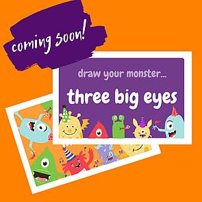 Англійські картки Малюємо Монстрика Draw Your Monster