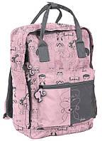Женский городской рюкзак-сумка 14L Paso BAM-020 розовый