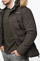 Куртка зимняя молодежная короткая Braggart Youth для парней, до -18°C, коричневая