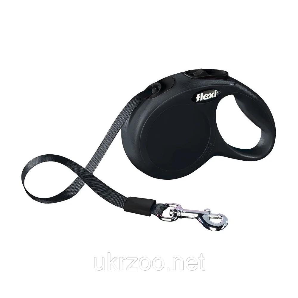 Рулетка Флексі для собак NEW CLASSIC стрічка чорний L 8м арт.11731 BLACK Flexi