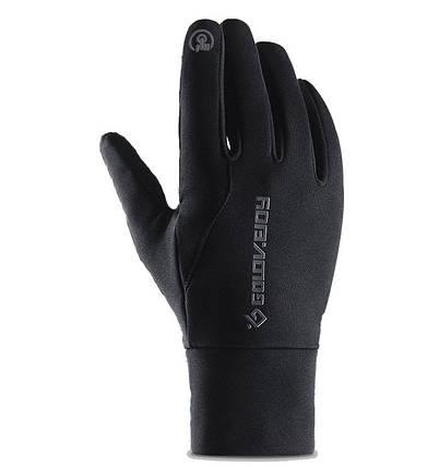 Мужские эластичные перчатки Golovejoy сенсорные черные р. M (1279440664), фото 2