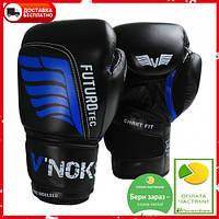 Тренировочные боксерские перчатки V`Noks Futuro Tec 16 oz чёрные