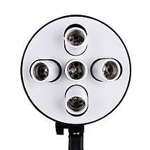 Софтбокс (Softbox) 60x90 см на 5 ламп E27. Постійний студійне світло зі стійкою, фото 2