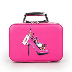 Кейс для косметики Туфелька ярко-розовый 24x17 cm