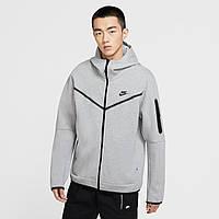 Толстовка спортивное мужское серого цвета Nike Tech Fleece Zip Hoody