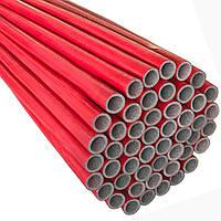 Утеплювач EXTRA  червоний для труб (6мм), ф22 ламінований  Теплоізол
