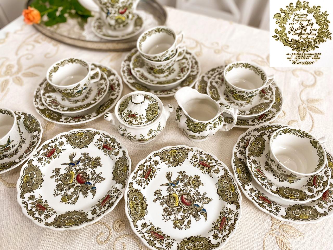 Английский чайно кофейный сервиз на шесть персон,  Ridgway, Windsor, Staffordshire England, 60-70 е года