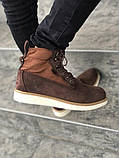 Мужские зимние ботинки Timberland brown termo (Реплика ААА), фото 4