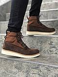 Мужские зимние ботинки Timberland brown termo (Реплика ААА), фото 2
