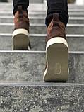 Мужские зимние ботинки Timberland brown termo (Реплика ААА), фото 6