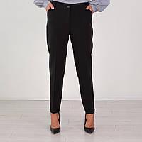 Строгие черные женский брюки с втачными карманами 46-58