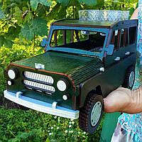 Дерев'яний Міні-бар автомобіль УАЗ 34*16*18 см, фото 1