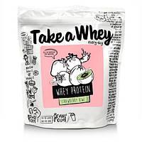 (Сроки годности до 12\20) Take a whey Whey protein blend 907 g Малина, фото 1