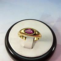 Кольцо из чистого золота с турмалином
