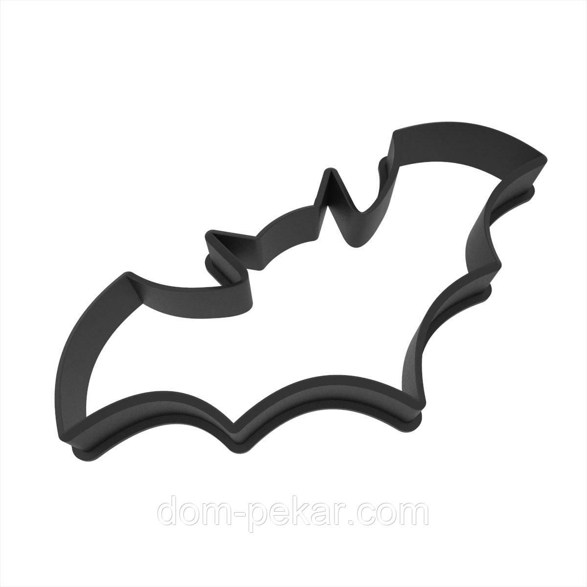 Вирубка для пряників Хелловін - кажан 4,1*9 см (3D)