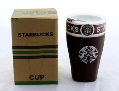 Чашка керамічна кружка Starbucks коричнева