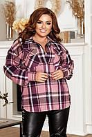 """Женская Стильная Рубашка """"Триктоаж"""" Dress Code, фото 1"""