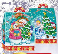 Новогодняя упаковка из картона 350г №261