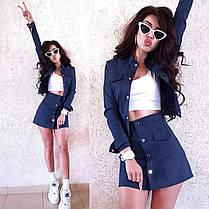 Костюм двійка спідниця і кофта джинс, фото 3
