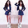 Костюм двійка спідниця і кофта джинс, фото 5