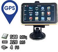 """Автомобильный GPS навигатор 911BT c 5"""" сенсорным экраном 4GB поддержка microSD 8GB"""