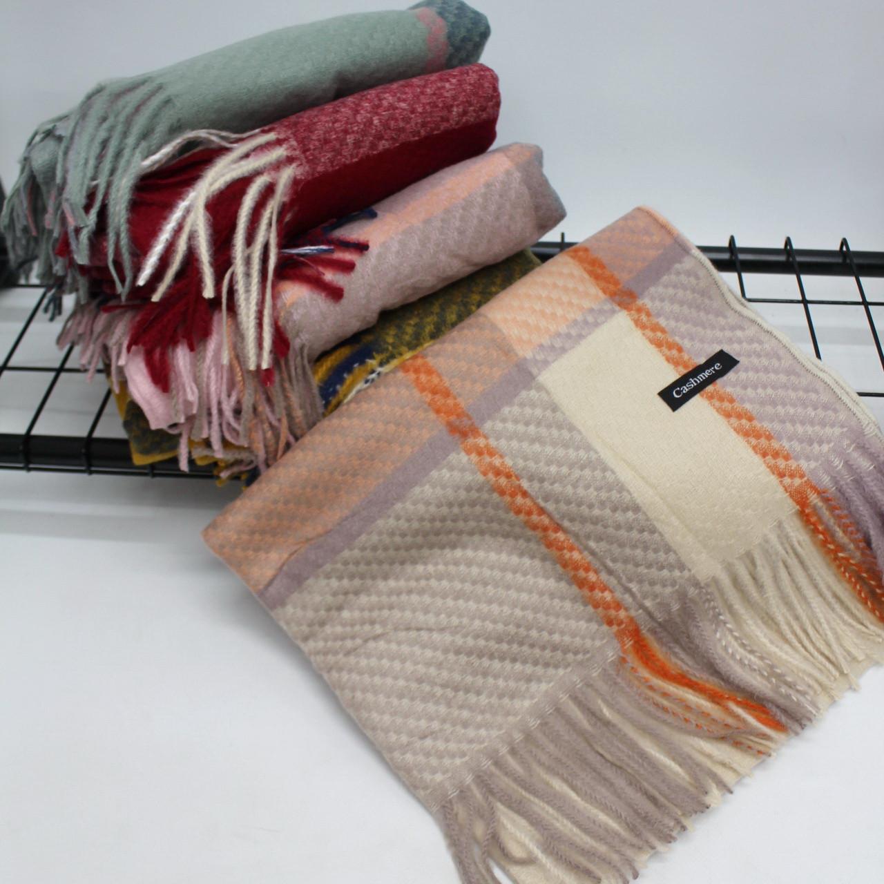 Кашемировый теплый шарф палантин  Cashmere 128006