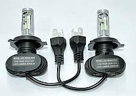 Комплект автомобильных светодиодных LED ламп для фар авто S1 H4 8000Lm 6500K Головной свет лед