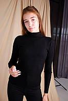 Гольф женский зимний теплый Ameli черный | воротник стойка | водолазка женская кофта зимняя ЛЮКС качества, фото 1