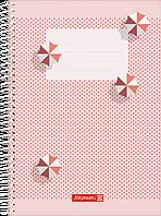 Скетчбук А5 Brunnen боковая спираль обложка лето розовая 100 г/м2, 80 листов (104748571)