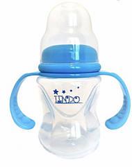 Бутылочка для кормления c силиконовой соской и ручками ТМ Lindo А-14, объёмом 120 мл