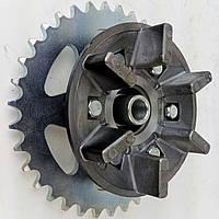 JL200GY-2C Ступичная муфта демпфера заднего колеса в комплекте с ведомой звездой Loncin